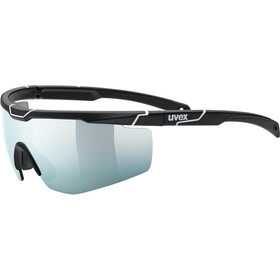 UVEX Sportstyle 117 Sportsbriller, black matt white/mirror sil